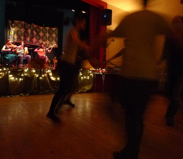 Ceilidh band dancers